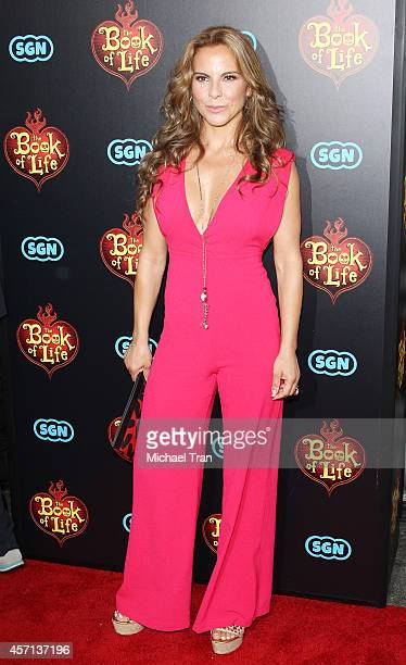 Kate del Castillo arrives at the Los Angeles premiere of Book Of Life held at Regal Cinemas LA Live on October 12 2014 in Los Angeles California