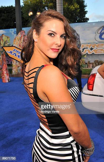Kate del Castillo arrives on the red carpet at the Univision's 2009 Premios Juventud Awards at Bank United Center on July 16 2009 in Coral Gables...