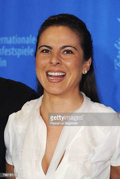 Kate del Castillo attends the 'Julia' Photocall and Press Conference as part of the 58th Berlinale Film Festival at the Grand Hyatt Hotel on February...