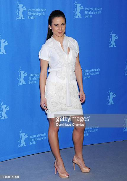 Kate del Castillo attends the Julia photocall during day three of the 58th Berlinale International Film Festival held at the Grand Hyatt Hotel on...