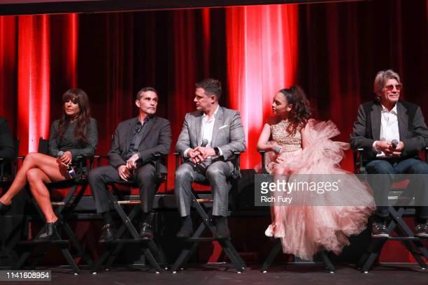 Kate del Castillo Humberto Zurita Mark Tacher Isabella Sierra and Eric Roberts attend the LA premiere of Telemundo's La Reina Del Sur Season 2 at...