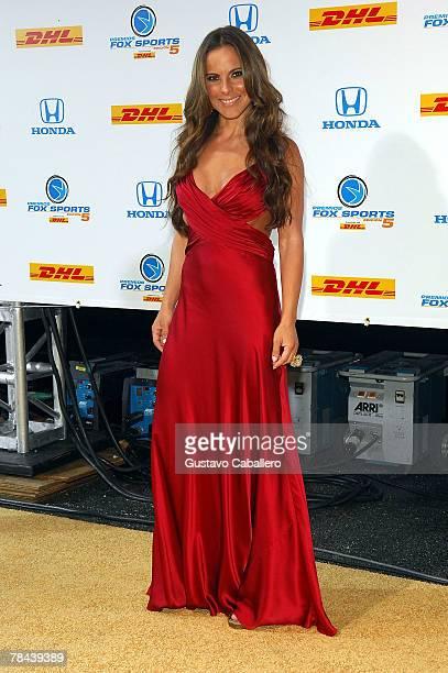 Kate del Castillo poses at the 5th Annual Premios Fox Sports Awards at the Fillmore Miami Beach at Jackie Gleason Theater December 12 2007 in Miami...
