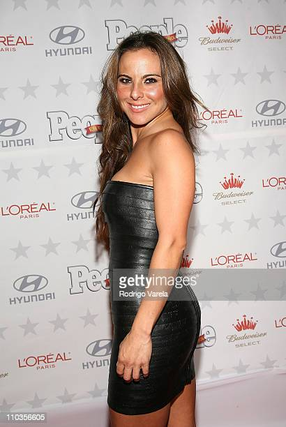 Kate del Castillo poses during arrivals at the People en Espanol Star Of The Year celebration on December 12 2007 in Miami Florida
