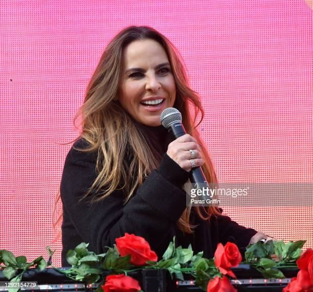 Kate del Castillo speaks onstage during Joy To The Polls at Lucky Shoals Park on December 19, 2020 in Norcross, Georgia.