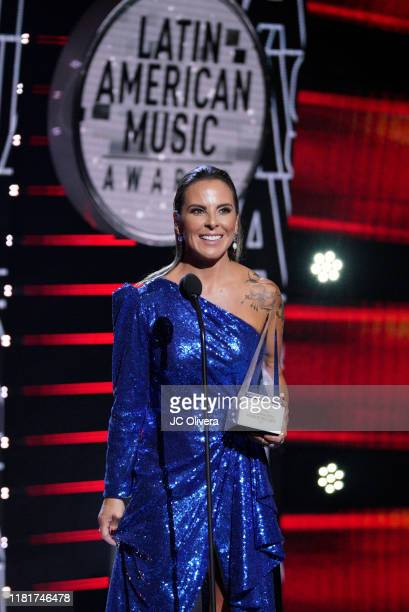 Kate del Castillo speaks onstage during the 2019 Latin American Music Awards at Dolby Theatre on October 17, 2019 in Hollywood, California.