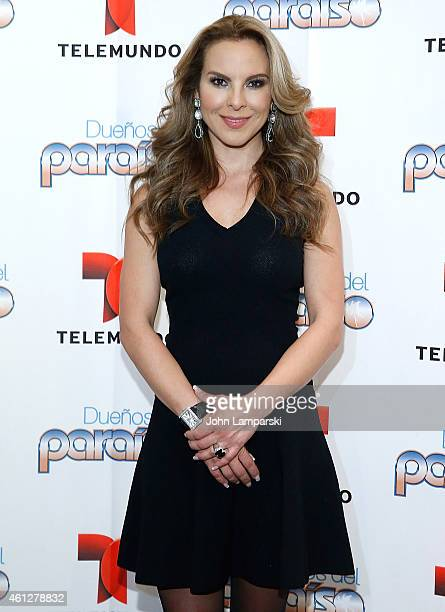Kate del Castillo visits the NBC Experience Store on January 10 2015 in New York City