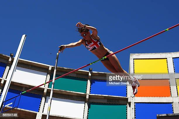 Kate Dennison of Great Britain in action during the women's pole vault during day one of the Spar European Team Championships at the Estadio...