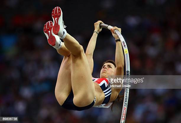 Kate Dennison of Great Britain Northern Ireland competes in the women's Pole Vault Final during day three of the 12th IAAF World Athletics...