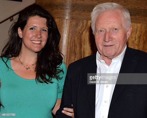 Kate Dimbleby and David Dimbleby attends Kate Dimbleby's performance of The Dory Previn Story at The Crazy Coqs on June 25 2014 in London England