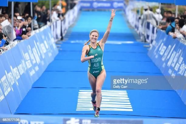 Kate Doughty of Australia during the ITU World Championship Series ParaTriathlon on May 13, 2017 in Yokohama, Japan.