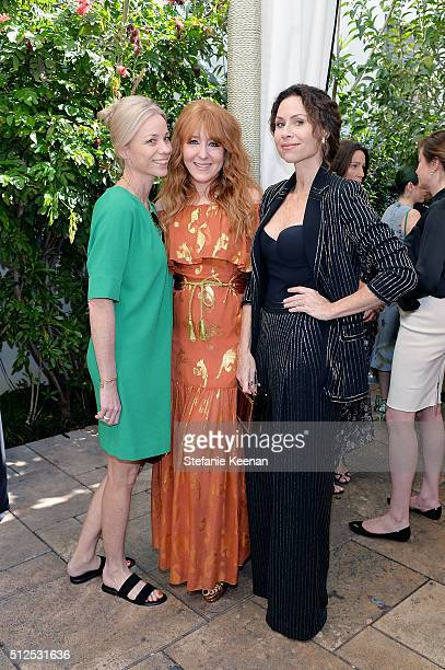 Kate Driver Charlotte Tilbury and actress Minnie Driver attend NETAPORTER Celebrates Women Behind The Lens at Chateau Marmont on February 26 2016 in...