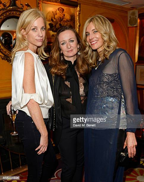 Kate Driver Lucy Yeomans and Kim Hersov attends the launch of Annabel's DocuFilm 'A String of Naked Lightbulbs' at Annabel's on October 28 2014 in...