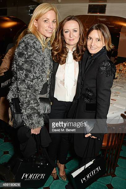 Kate Driver PORTER EditorinChief Lucy Yeomans and Daisy Bates attend a dinner hosted by PORTER in honour of cover girl Christy Turlington Burns and...