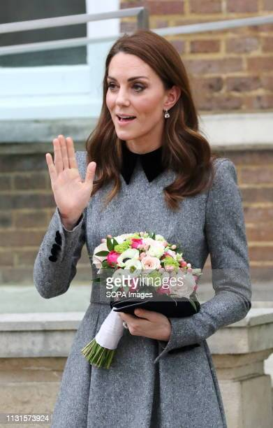 Kate Duchess of Cambridge seen visiting the Foundling Museum at the Brunswick Square in London
