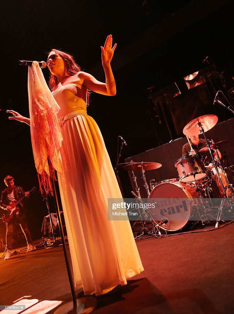 Kate Earl and her band perform onstage at Gibson Amphitheatre on July 17, 2013 in Universal City, California.