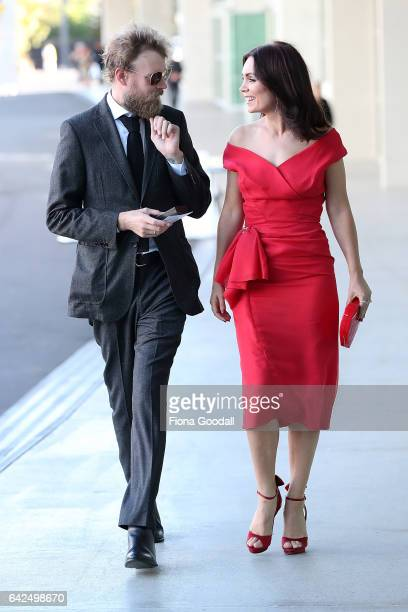 Kate Elliot and partner arrive ahead of the NZ Film Awards also known as 'The Moas' at ASB Showgrounds on February 18 2017 in Auckland New Zealand