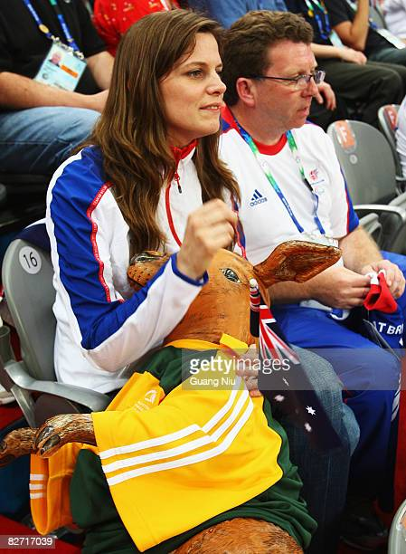 Kate Ellis Australian Minister of Sport and British sports minister Gerry Sutcliffe are seen at the Wheelchair Basketball match between Australia and...