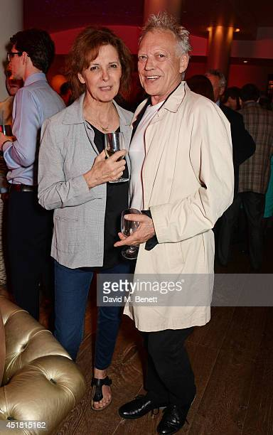 Kate Fahy and Hilton McRae attends an after party following the press night performance of 'Daytona' at the Haymarket Hotel Haymarket on July 7 2014...