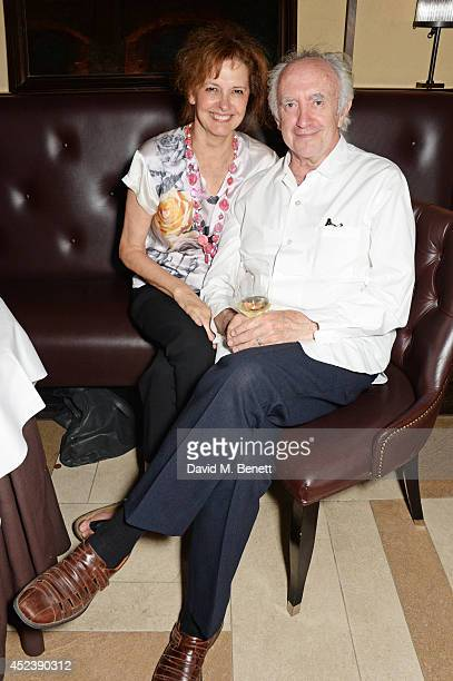 Kate Fahy and Jonathan Pryce attend a party celebrating the 35th anniversary of 'The Golden Heart' pub at Galvin La Chapelle on July 19 2014 in...