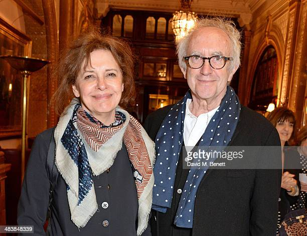 Kate Fahy and Jonathan Pryce attend an after party following the press night performance of Handbagged at the Royal Horseguards hotel on April 10...