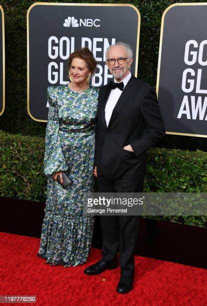 Kate Fahy and Jonathan Pryce attend the 77th Annual Golden Globe Awards at The Beverly Hilton Hotel on January 05 2020 in Beverly Hills California