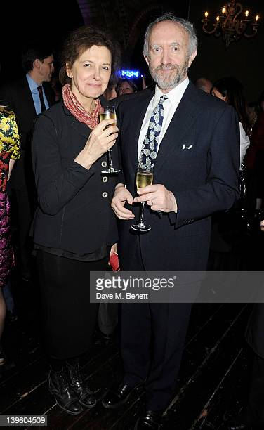 Kate Fahy and Jonathan Pryce attend the Almeida Theatre Fundraising Gala 2012 at One Mayfair on February 23 2012 in London England
