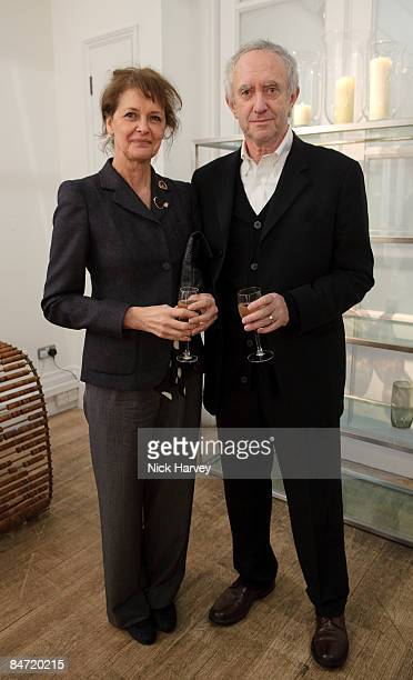 Kate Fahy and Jonathan Pryce attend the Nicole Farhi 20th Anniversary Menswear Dinner at Foubert Place on February 9 2009 in London England
