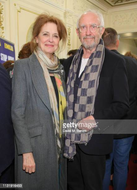 Kate Fahy and Jonathan Pryce attend the press night after party for Emilia at The Vaudeville Theatre on March 21 2019 in London England