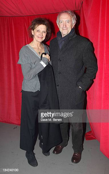 Kate Fahy and Jonathan Pryce attend the Press Night performance of La Soiree Christmas At The Roundhouse a risque variety show featuring...