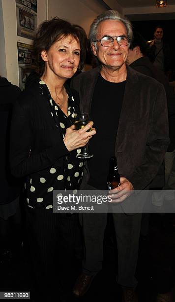 Kate Fahy and Oliver Cotton attend the press night of 'Wet Weather Cover' at the Arts Theatre on April 7 2010 in London England