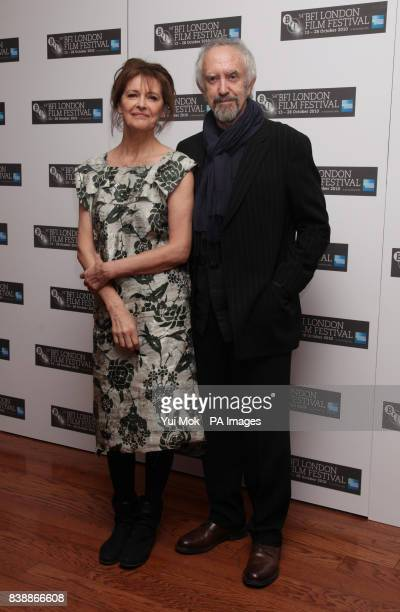Kate Fahy with her husband Jonathan Pryce attend the premiere of Archipelago at the Vue cinema London shown as part of the 54th BFI London Film...