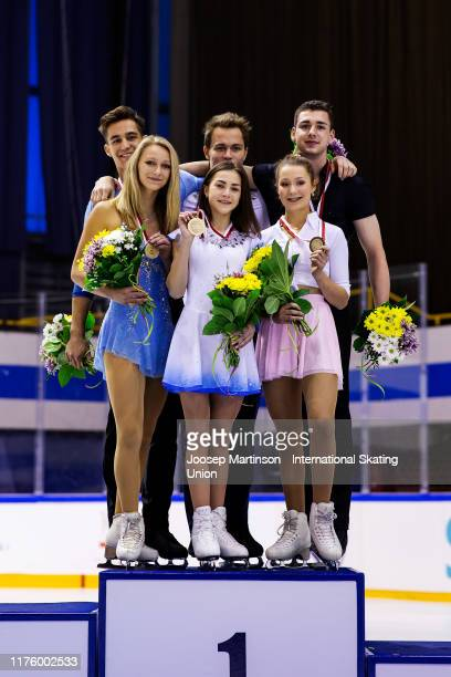 Kate Finster and Balazs Nagy of the United States Apollinariia Panfilova and Dmitry Rylov of Russia and Annika Hocke and Robert Kunkel of Germany...