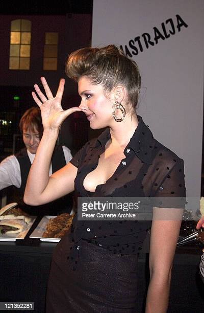Kate Fischer attends the after party at the 2000 Emirates AFI Awards at Fox Studios on November 19 2000 in Sydney Australia