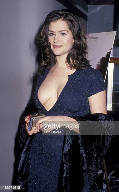Kate Fischer attends the premiere of 'Sirens' on February 28 1994 at Loew's Tower Cinema in New York City