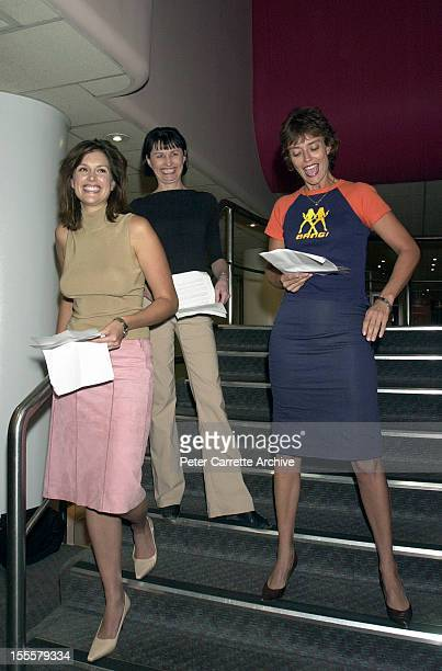 Kate Fischer Catharine Lumby and Rachel Ward attend the launch of the book 'Repeating The Leaving' by Charles Waterstreet at the Hyde Park Club on...