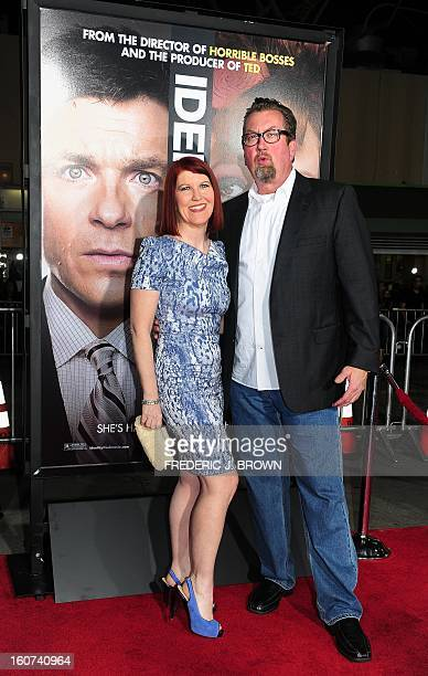 Kate Flannery and Billy Gardell pose on arrival for the world premiere of the film 'Identity Thief' in Los Angeles, California, on February 4, 2013....