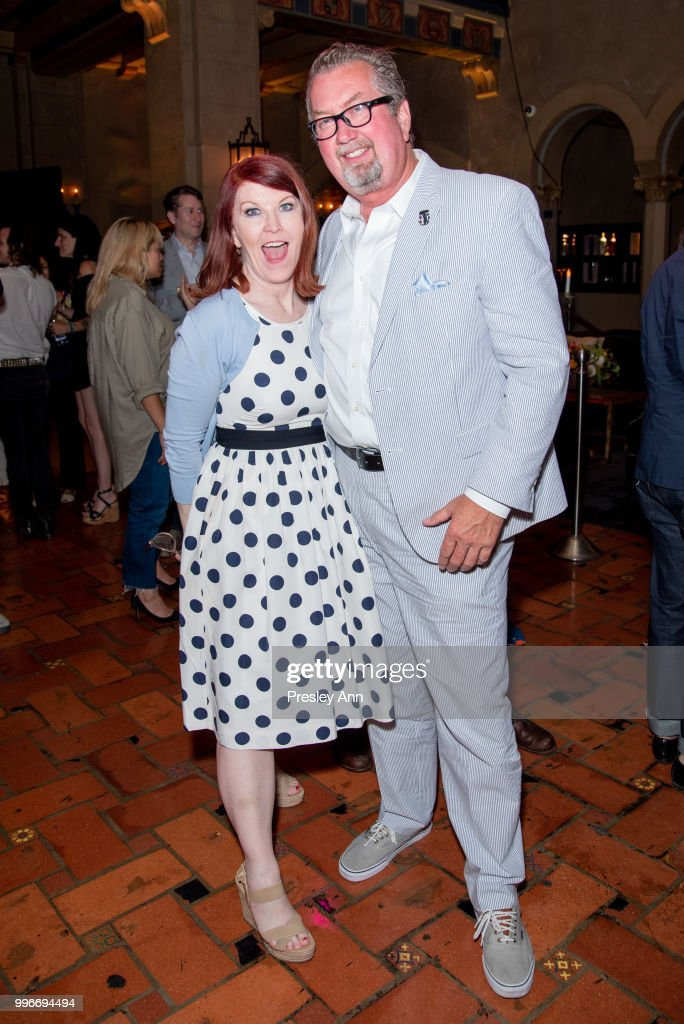 Kate Flannery and Chris Haston attend after party for the premiere of truTV's 'Bobcat Goldthwait's Misfits & Monsters' at Hollywood Roosevelt Hotel on July 11, 2018 in Hollywood, California.
