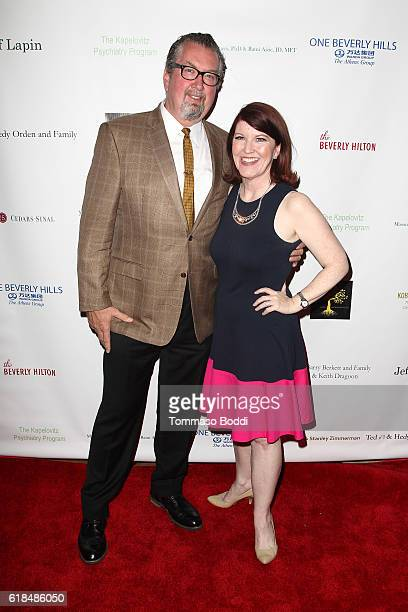 Kate Flannery and Chris Haston attend the 42nd Annual Maple Ball at Montage Hotel on October 26 2016 in Beverly Hills California