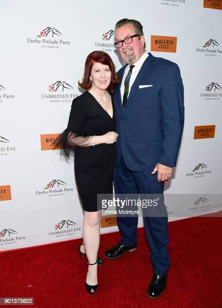 Kate Flannery and Chris Haston attend the SixthAnnual Star Studded Unbridled Eve Gala at Bardot on January 4 2018 in Hollywood California