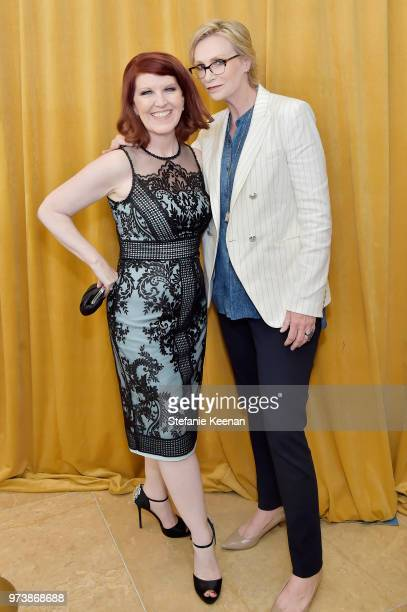Kate Flannery and Jane Lynch attend the Women In Film 2018 Crystal Lucy Awards presented by Max Mara Lancôme and Lexus at The Beverly Hilton Hotel on...