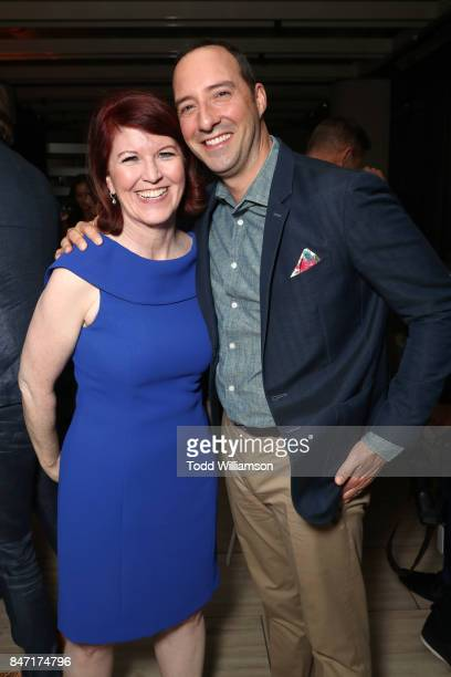 Kate Flannery and Tony Hale attend The Hollywood Reporter and SAGAFTRA Inaugural Emmy Nominees Night presented by American Airlines Breguet and Dacor...