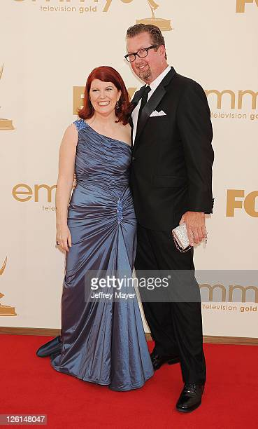 Kate Flannery arrives at the 63rd Primetime Emmy Awards at the Nokia Theatre L.A. Live on September 18, 2011 in Los Angeles, California.