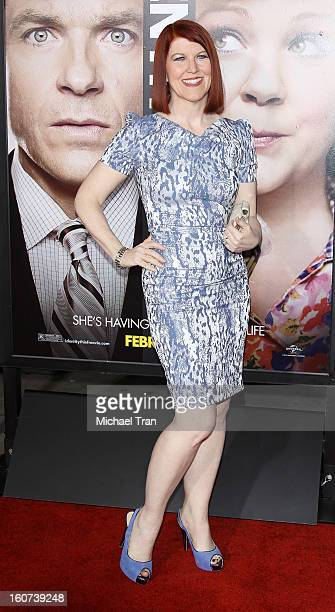 """Kate Flannery arrives at the Los Angeles premiere of """"Identity Thief"""" held at Mann Village Theatre on February 4, 2013 in Westwood, California."""