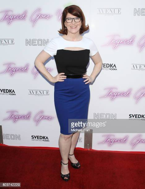 Kate Flannery arrives at the Los Angeles premiere of Neon's Ingrid Goes West held at ArcLight Hollywood on July 27 2017 in Hollywood California