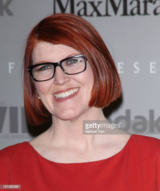 Kate Flannery arrives to the Women In Film 2010 Crystal + Lucy Awards held at Hyatt Regency Century Plaza on June 1, 2010 in Century City, California.