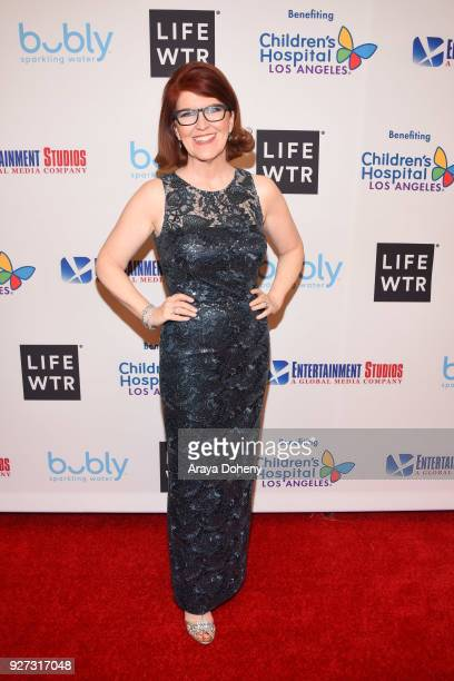 Kate Flannery attends the Byron Allen's Oscar Gala Viewing Party to support the Children's Hospital Los Angeles at the Beverly Wilshire Four Seasons...
