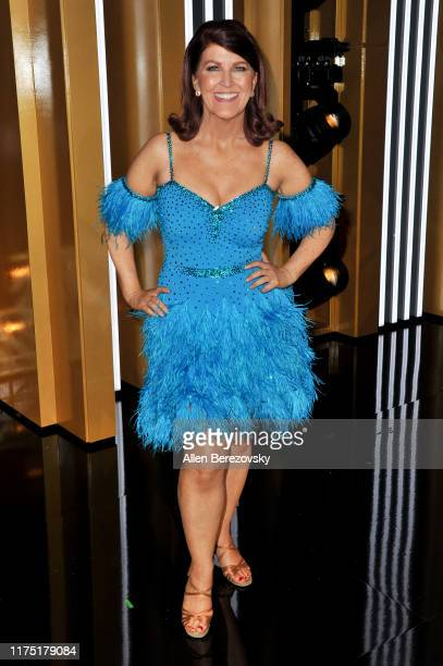 """Kate Flannery attends the """"Dancing With The Stars"""" Season 28 show at CBS TelevisIon City on September 16, 2019 in Los Angeles, California."""