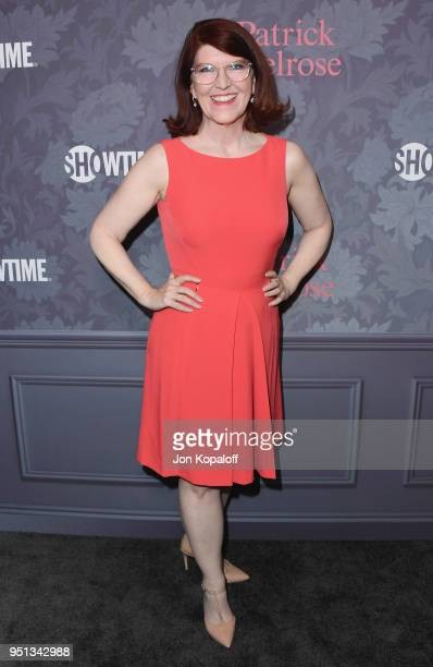 Kate Flannery attends the premiere of Showtime's 'Patrick Melrose' at Linwood Dunn Theater on April 25 2018 in Los Angeles California
