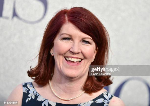 """Kate Flannery attends the premiere of STX's """"Poms"""" at Regal LA Live on May 01, 2019 in Los Angeles, California."""