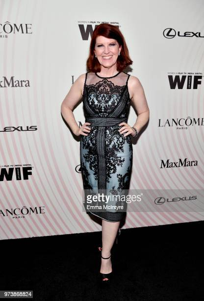 Kate Flannery attends the Women In Film 2018 Crystal Lucy Awards presented by Max Mara Lancôme and Lexus at The Beverly Hilton Hotel on June 13 2018...